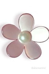 Applicazione-decorazione-fiore-PVC-rosa-bomboniera-sacchetto-cerimonia-da-incollo-0089-2,8cm