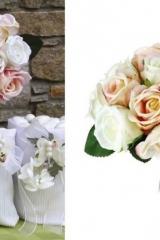 Bouquet-mazzo-12-rose-tessuto-rosa-avorio-fiore-artificiale-decorativo-cerimonia-cerimonie-confettate-matrimonio-battesimo-comunione-cresima-ST433