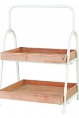 Alzata-in-legno-e-metallo-con-due-vassoi.-CM-36x36-H-54