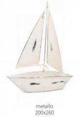 Barca a vela metallo decorativa. CM 20x26  Codice- BN25279