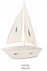 Barca a vela metallo decorativa. CM 26x35  Codice- BN25280