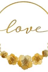 CERCHIO LOVE ORO GLITTER METALLO D. 30Cod.- 1915228308