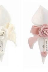 Cono-tessuto-rigido-con-rosa-e-fiocco-applicato.-CM-17