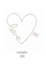 Cuore metallo forma cuore con scritta LOVE. CM 10  Codice- BN25335