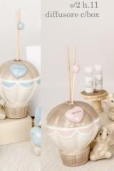 Profumatore-mongolfiera-in-porcellana-lucida-con-elefante-baby-e-scatola.-Ass-2-per-colore.-H-11-Codice-E03104