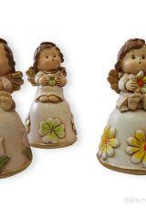 edencreazioni, Bomboniera, cerimonia, cerimonie, battesimo, comunione, fiore, statuina, angelo, angioletto, campana
