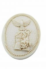 icona-sacra-cresima-bomboniera-ovale-resina-dura-mitra-vangelo-uva