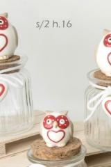 Gufo-ceramica-barattolo-portaconfetti-E02117/E02116/E02115-bomboniera-matrimonio-anniversario-nozze-laurea-cresima