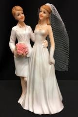 Cake topper coppia nozze gay. H 17  Codice- PB14530