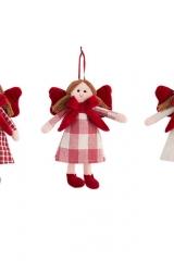 Bambola-bambolina-tessuto-stoffa-rossa-d'appendere-decorativa