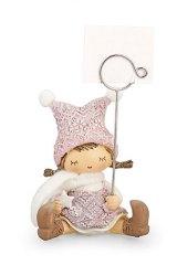 bimba-statua-statuina-rosa-decorazione-decoro-clip-metallo-portafoto-natalizio-addobbo
