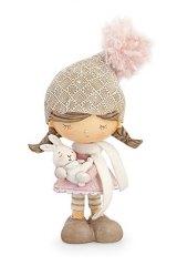 bimba-statua-statuina-rosa-decorazione-decoro-natalizio-addobbo-natale-coniglio