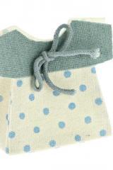 Sacchetto-portaconfetti-vestitino-vestito-pois-celeste-Misura 7x6 cm Art.:1098