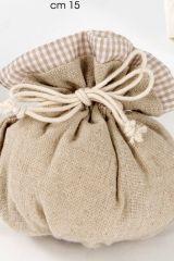 saccotto-puffotto-quadratini-bianco-tortora-portaconfetti-cerimonia-matrimonio-comunione-cresima