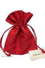 Sacchetto-portaconfetti-piatto-rustico-saccotto-laurea, cresima, rosso-Misura 11 x 13,5 cm Art.:ED-0846