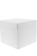 Scatola astuccio in cartone effetto lino bianco. Fondo con coperchio automontate. Misure:10x10x12.Cod.1715271562