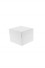 Scatola astuccio in cartone effetto lino bianco. Fondo con coperchio automontate. Misure:8x8x6.Cod.1715271554