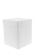 Scatola astuccio in cartone effetto lino bianco. Fondo con coperchio automontate. Misure:12x12x12.Cod.1715271567