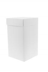 Scatola astuccio in cartone effetto lino bianco. Fondo con coperchio automontate. Misure:12x12x15.Cod.1715271568