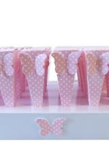 cono-portaconfetti-matrimonio-nozze-anniversario-battesimo-confettate-rosa-pois-farfalle-