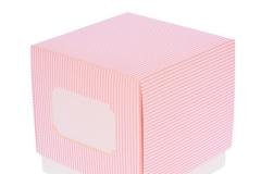 Scatola-scatolina-portaconfetti-righe-rosa-inserto-targhetta-F C-9x9x9-ST18317591