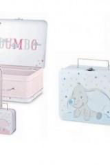 Set-9-valigette-metallo-con-Dumbo-rosa-o-azzurre.-Grande-CM-20x16-H-8-Piccola-CM-8x7-H-4