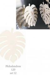 Set 12 foglie Philodendron-foglia-decorativa-allestiementi-carta-tableau-mariage-CM12-GSBN27891