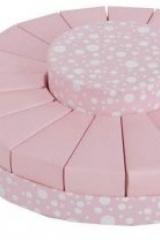 Torta da 18 fette + centrale rosa a pois  Codice- SC128-ROSA