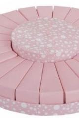 Torta da 24 fette + centrale rosa a pois  Codice- SC130-ROSA