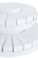 Torta da 42 fette + centrale a due piani bianca  Codice- SC099-BCO