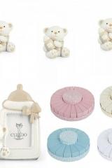 Torta scatoline a fetta portaconfetti corredata di bomboniera orso oresetto battesimo nascita-Art.0753:0754