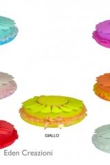 Torta vassoio con scatoline a fetta portaconfetti in cartone cannole-Art.0300