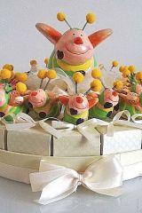 torta-fette-portaconfetti-vassoio-bomboniera-rosa-pois-battesimo-matrimonio-anniversario-comunione-cresima-nozze-nascita-ape-apetta