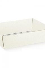 Vassoio, cesto in cartoncino  bianco. CM 21x21 H 9  Codice- S36496