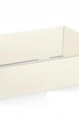 Vassoio cartoncino sfere bianco. CM 40x30 H 11.5  Codice- S36504